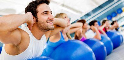 groepsles bodyshape op flexibele bal